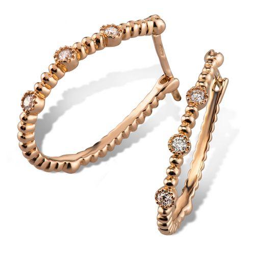 MORAGLIONE 1922 Mini Bubbles orecchini oro e diamanti kt.0.13