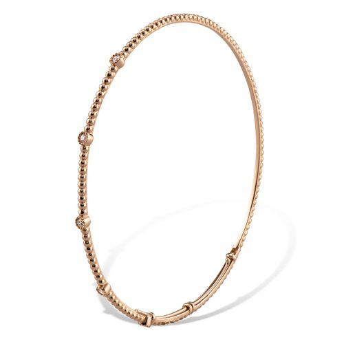 MORAGLIONE 1922 Mini Bubbles bracciale oro rosa e diamanti kt.0.12