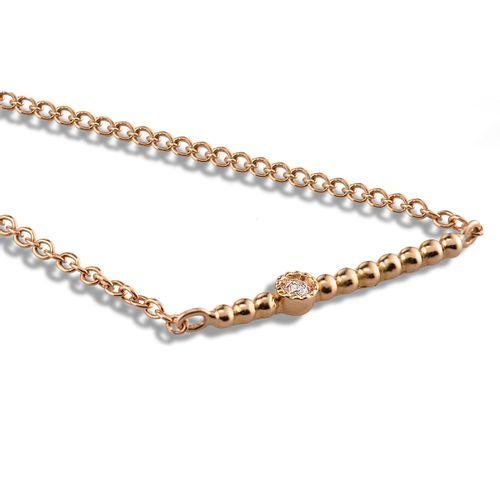 MORAGLIONE 1922 Mini Bubbles collana oro e diamanti kt.0.03