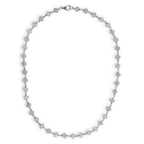 """MIDI JEWELS girocollo di acquamarina """"a rosario"""" in argento 925"""